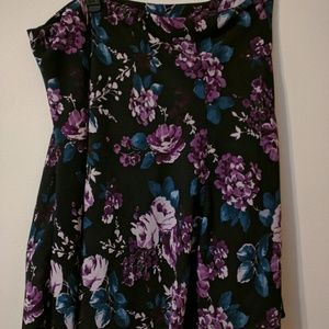 Jacklyn Smith Sz XL EG Maxi Floral Purple Black